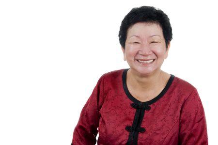 Portrait of a Happy 60s Senior Asian Woman. photo