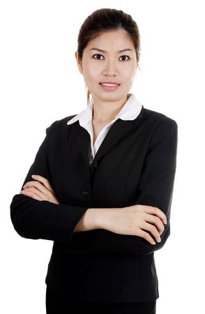 Confident Asian BusinessEducational women with smiling face. photo