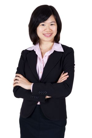 business attire teacher: Confident Asian business women with smiling face.