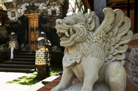 stone carving: Stone Carving at Ubud Palace or Puri Saren, Bali, Indonesia.