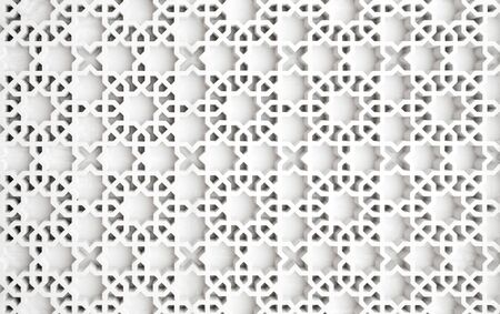 islamic pattern: An example of Islamic design cast in concrete on a building in Putrajaya, Malaysia.