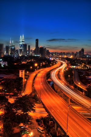 elevated view: Kuala Lumpur is the capital city of Malaysia.