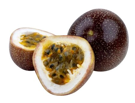 Passion Fruits isolated on white with clipping path. photo