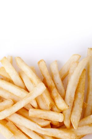 White copy space above French Fries. Stock Photo - 6669192