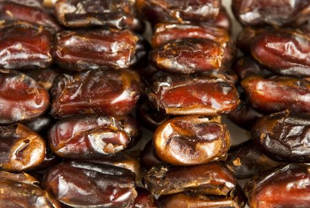 deglet: Delicious medjool dates in row.