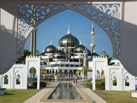 allah: Crystal Mosque or Masjid Kristal in Kuala Terengganu, Terengganu, Malaysia, Asia. Stock Photo