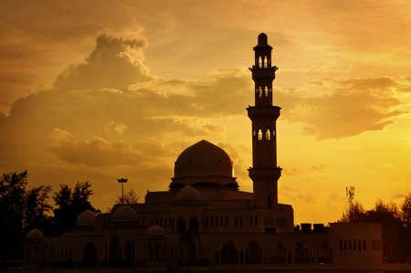 islamic wonderful: Masjid Tengku Tengah Zaharah or also known as Floating Mosque in Kuala Terengganu, Malaysia