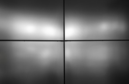 Real Grey metal background of a office building. Stock Photo - 7284804