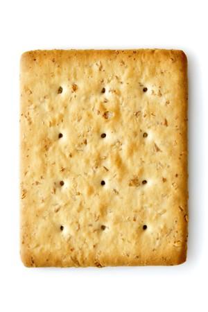 Single piece Oat Cracker isolated on white photo