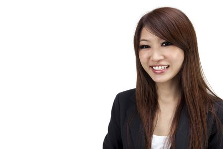 Young Asian Executive smiling on white background Stock Photo - 7720189