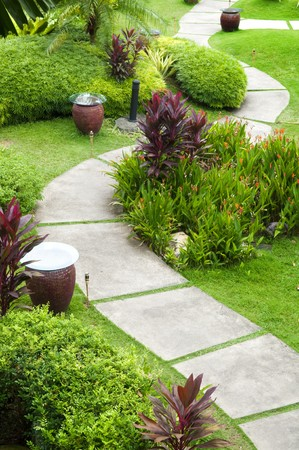 Oriental Garden view at AFamosa Malacca, Malaysia photo