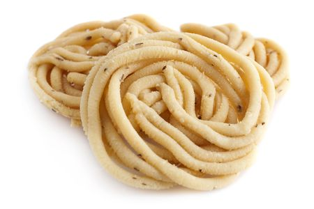 Murukku is a savoury snack popular in India and Sri Lanka.  photo