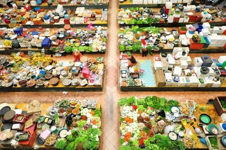 Vegetable market in Kota Bharu, Kelantan, Malaysia, Asia photo