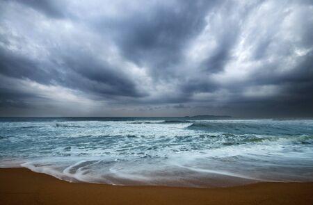 Tropical storm on Marang beach, Terengganu, Malaysia photo