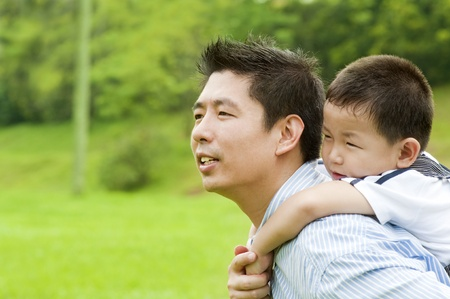 A father and child on a nice summer day. photo