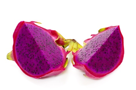The Dragon Fruit is also known as pitaya, pitahaya, huo long guo, strawberry pear, nanettikafruit or Thanh Long. photo