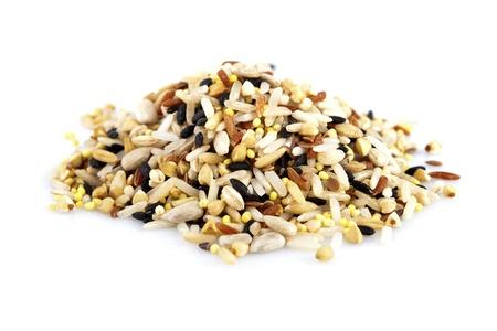 Granos crudas, mezcladas con granos diferentes 12