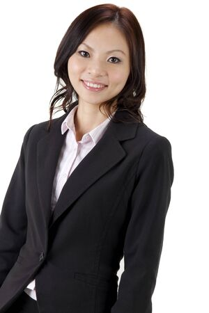 Asian Educational/Business woman on white background Stock Photo - 9181310