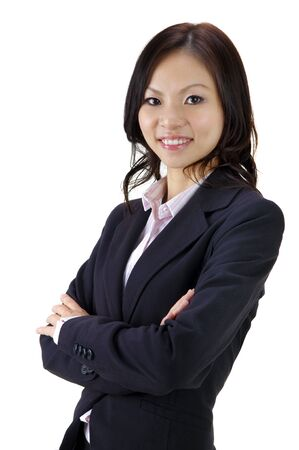 Asian EducationalBusiness woman on white background photo