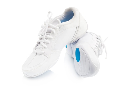 Pair of new sneaker on white background photo