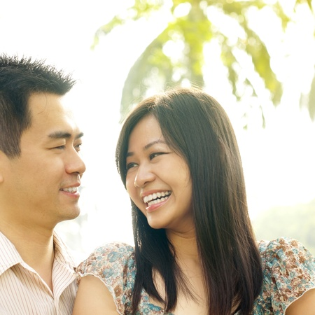 heterosexual couples: Asian couple Love At First Sight