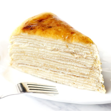mille: Thousand layers cake, famous French cake in Malacca, Malaysia.