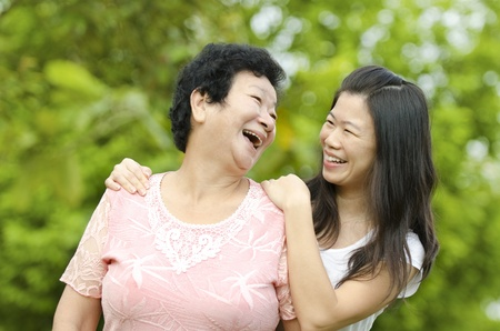 Happy mother talking with her daughter. Stock Photo - 9898885