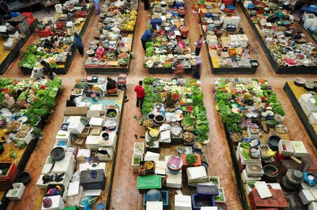 kelantan: Vegetable market in Kota Bharu, Kelantan, Malaysia, Asia