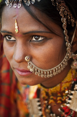 Portrait of a Rajasthan woman Stock Photo - 9899668