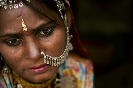 Portrait of a Rajasthan woman photo