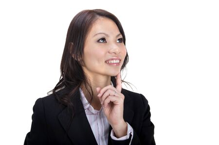 asian business women: Asian business women having thought