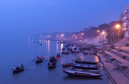 ghat: Morning on the Ganges, Varanasi, India