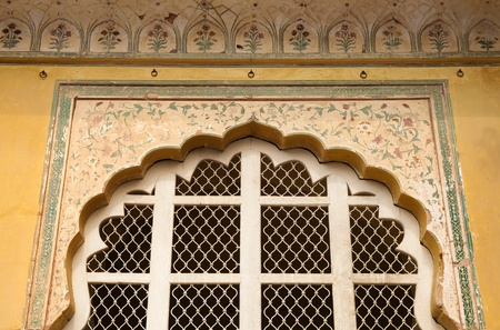 Doorway From The Amber Fort From Jaipur, Rajasthan, India. Built Between The 1590s and 1740s photo