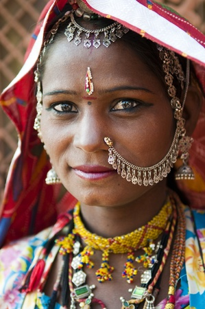 Portrait of a India Rajasthani woman Stock Photo - 10285732