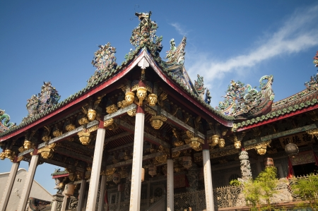 The famous Khoo Kongsi is the grandest clan temple in Penang, Malaysia. It is also one of the city's major historic attraction. Stock Photo - 10285752