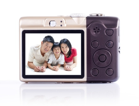 photographing: Taking photo of my family Stock Photo