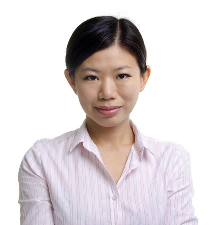 Asian EducationalBusiness woman on white background photo