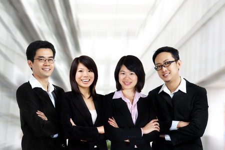 Asian business team on office background Stock Photo - 11012262