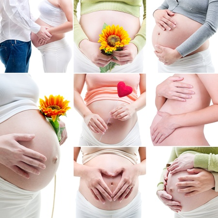 Collage of my pregnancy photo Stock Photo - 11111519