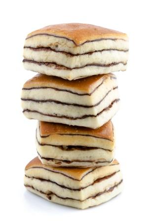 Chocolate Maple Bread on white background photo