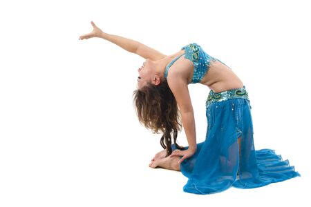 Belly dancer on white background photo