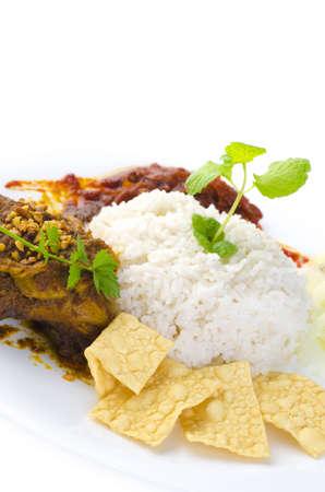 Famous malaysian food nasi lemak photo