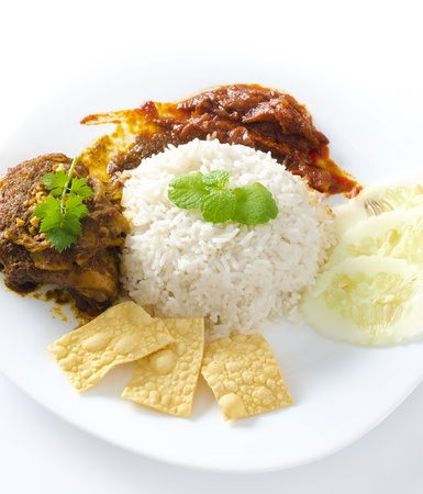 Famous malaysian food nasi lemak photo