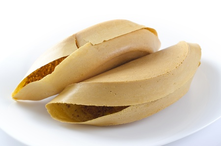 Asian sweet pancake on white background photo