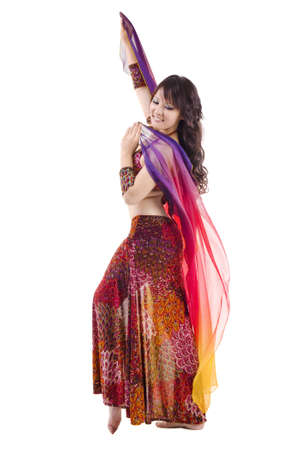 Beautiful Belly dancer on white background Stock Photo - 12666436