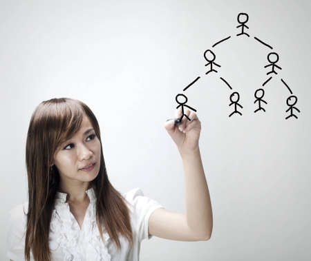 Asian woman sketching People Network photo