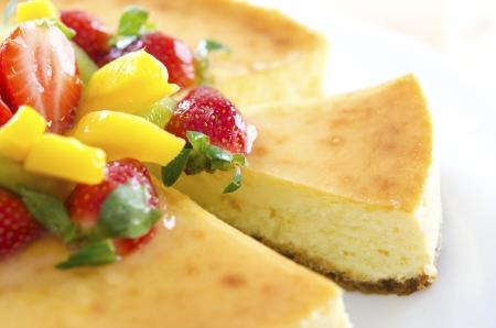 Freshly homemade passion fruit cheese cake