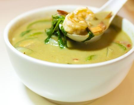 gamba: Un golpe de Tailandia camarones al curry verde