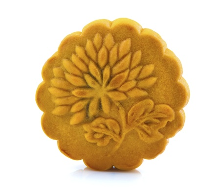 Mooncake traditionally eaten during the Mid-Autumn Festival and this is one of the four most important Chinese festivals. photo