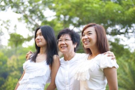 Outdoor Asian family having fun Stock Photo - 15200345